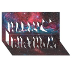 Vela Supernova Happy Birthday 3d Greeting Card (8x4)