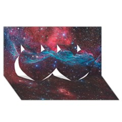 Vela Supernova Twin Hearts 3d Greeting Card (8x4)