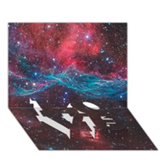 Vela Supernova Love Bottom 3d Greeting Card (7x5)