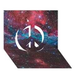 Vela Supernova Peace Sign 3d Greeting Card (7x5)