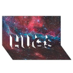 Vela Supernova Hugs 3d Greeting Card (8x4)