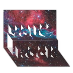 Vela Supernova You Rock 3d Greeting Card (7x5)