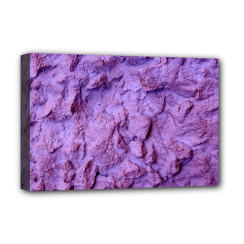 Purple Wall Background Deluxe Canvas 18  X 12   by Costasonlineshop