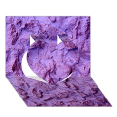 Purple Wall Background Heart 3d Greeting Card (7x5)  by Costasonlineshop