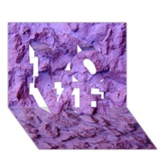 Purple Wall Background Love 3d Greeting Card (7x5)