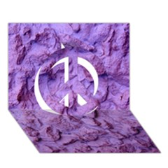 Purple Wall Background Peace Sign 3d Greeting Card (7x5)  by Costasonlineshop