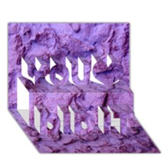 Purple Wall Background You Did It 3d Greeting Card (7x5)