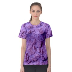 Purple Wall Background Women s Sport Mesh Tees by Costasonlineshop