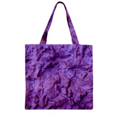 Purple Wall Background Zipper Grocery Tote Bags by Costasonlineshop
