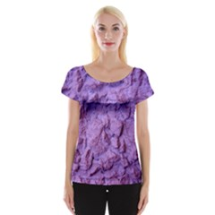 Purple Wall Background Women s Cap Sleeve Top by Costasonlineshop