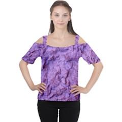 Purple Wall Background Women s Cutout Shoulder Tee