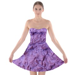 Purple Wall Background Strapless Bra Top Dress