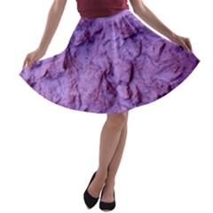 Purple Wall Background A Line Skater Skirt