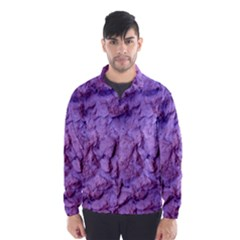 Purple Wall Background Wind Breaker (men)
