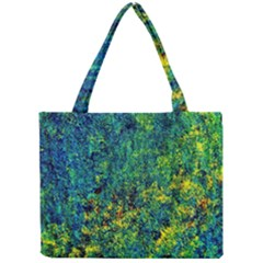 Flowers Abstract Yellow Green Tiny Tote Bags by Costasonlineshop