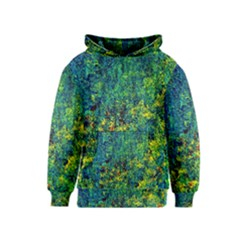 Flowers Abstract Yellow Green Kid s Pullover Hoodies by Costasonlineshop