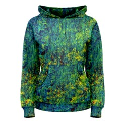 Flowers Abstract Yellow Green Women s Pullover Hoodies