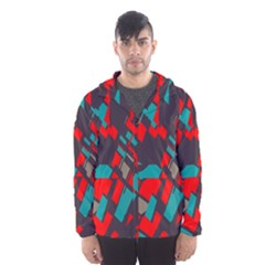 Red blue pieces Mesh Lined Wind Breaker (Men) by LalyLauraFLM