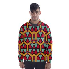 Honeycombs Triangles And Other Shapes Pattern Wind Breaker (men)