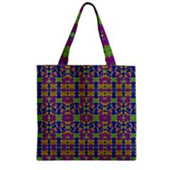 Ethnic Modern Geometric Pattern Zipper Grocery Tote Bags by dflcprints