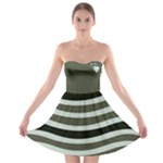 Wave Strapless Bra Top Dress