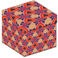 Triangles honeycombs and other shapes pattern Storage Stool by LalyLauraFLM