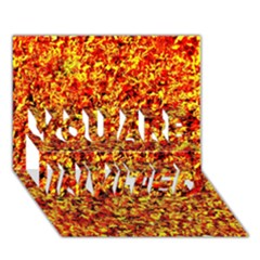 Orange Yellow  Saw Chips You Are Invited 3d Greeting Card (7x5)  by Costasonlineshop