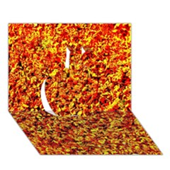 Orange Yellow  Saw Chips Apple 3d Greeting Card (7x5)