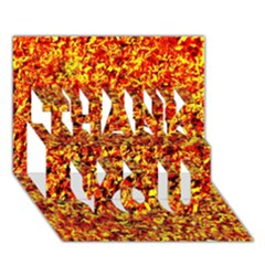 Orange Yellow  Saw Chips Thank You 3d Greeting Card (7x5)