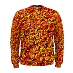 Orange Yellow  Saw Chips Men s Sweatshirts