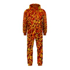 Orange Yellow  Saw Chips Hooded Jumpsuit (kids) by Costasonlineshop