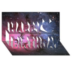 Trifid Nebula Happy Birthday 3d Greeting Card (8x4)