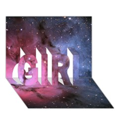 Trifid Nebula Girl 3d Greeting Card (7x5)