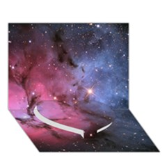 Trifid Nebula Heart Bottom 3d Greeting Card (7x5)