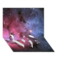 Trifid Nebula Love Bottom 3d Greeting Card (7x5)