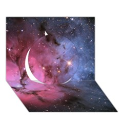 Trifid Nebula Circle 3d Greeting Card (7x5)