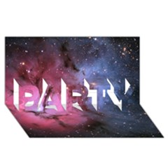 Trifid Nebula Party 3d Greeting Card (8x4)