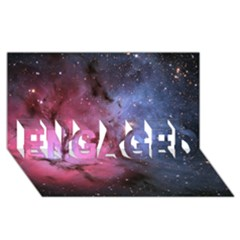 Trifid Nebula Engaged 3d Greeting Card (8x4)