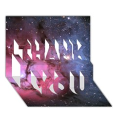 Trifid Nebula Thank You 3d Greeting Card (7x5)