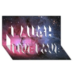 Trifid Nebula Laugh Live Love 3d Greeting Card (8x4)