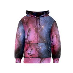 Trifid Nebula Kids Zipper Hoodies