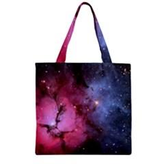 Trifid Nebula Zipper Grocery Tote Bags