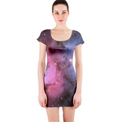 Trifid Nebula Short Sleeve Bodycon Dresses