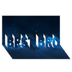 Starry Space Best Bro 3d Greeting Card (8x4)