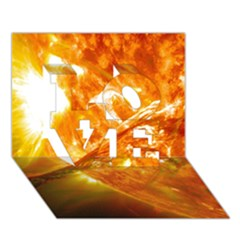 Solar Flare 2 Love 3d Greeting Card (7x5)  by trendistuff