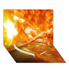 Solar Flare 2 Heart Bottom 3d Greeting Card (7x5)  by trendistuff