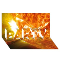 Solar Flare 2 Party 3d Greeting Card (8x4)