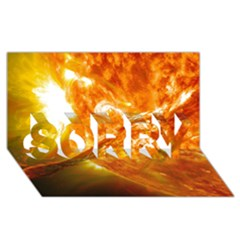 Solar Flare 2 Sorry 3d Greeting Card (8x4)