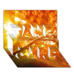 Solar Flare 2 Take Care 3d Greeting Card (7x5)
