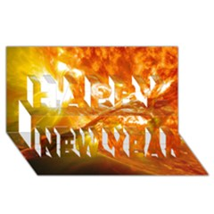 Solar Flare 2 Happy New Year 3d Greeting Card (8x4)